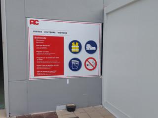 señales empresa señal prohibido señal ad