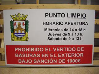cartel ayuntamiento cartel punto limpio