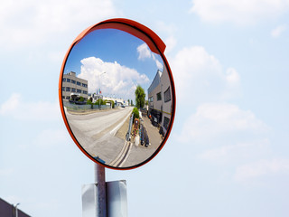 espejo de tráfico