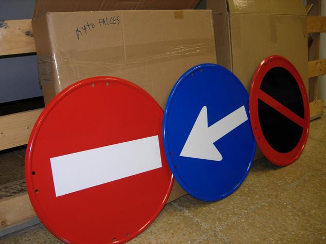 señales de tráfico señal prohibido señal