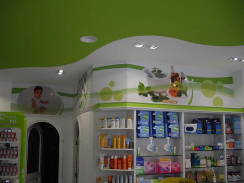 vinilo interior farmacia decoración farm
