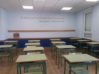 vinilo pared colegio rótulo pared colegi