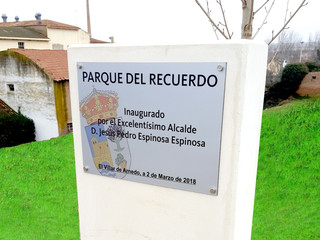 placa parque placa conmemorativa
