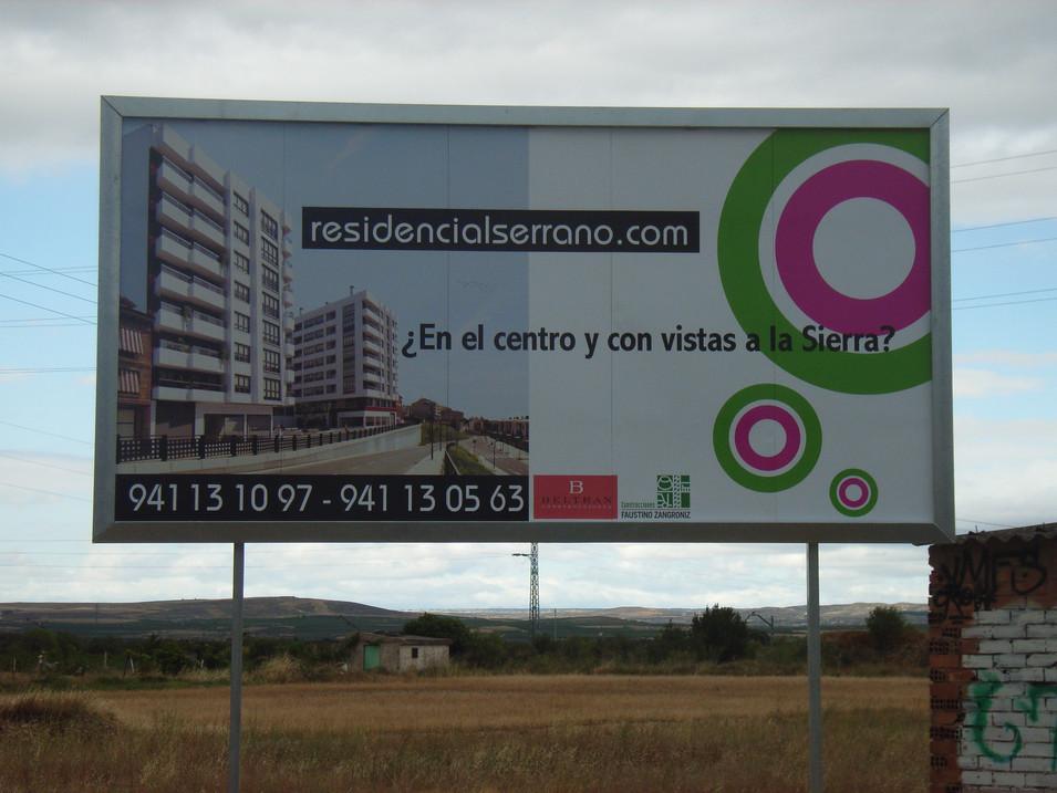 cartel inmobiliaria valla publicitaria v