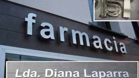 rótulo farmacia letras vinilo tienda