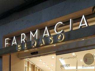 letras cajeadas farmacia cartel farmacia