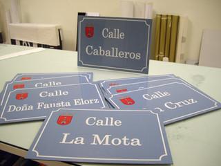 placas de calles ayuntamiento