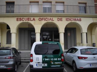 cartel escuela letras fachada instituto