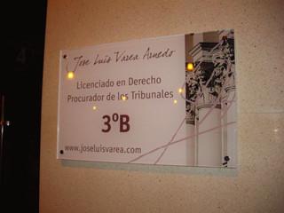 placa metacrilato placa oficina cartel v