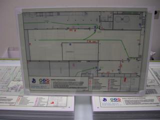 señal plano salida plano emergencia cart