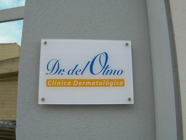 placa clinica placa pared cartel pared o