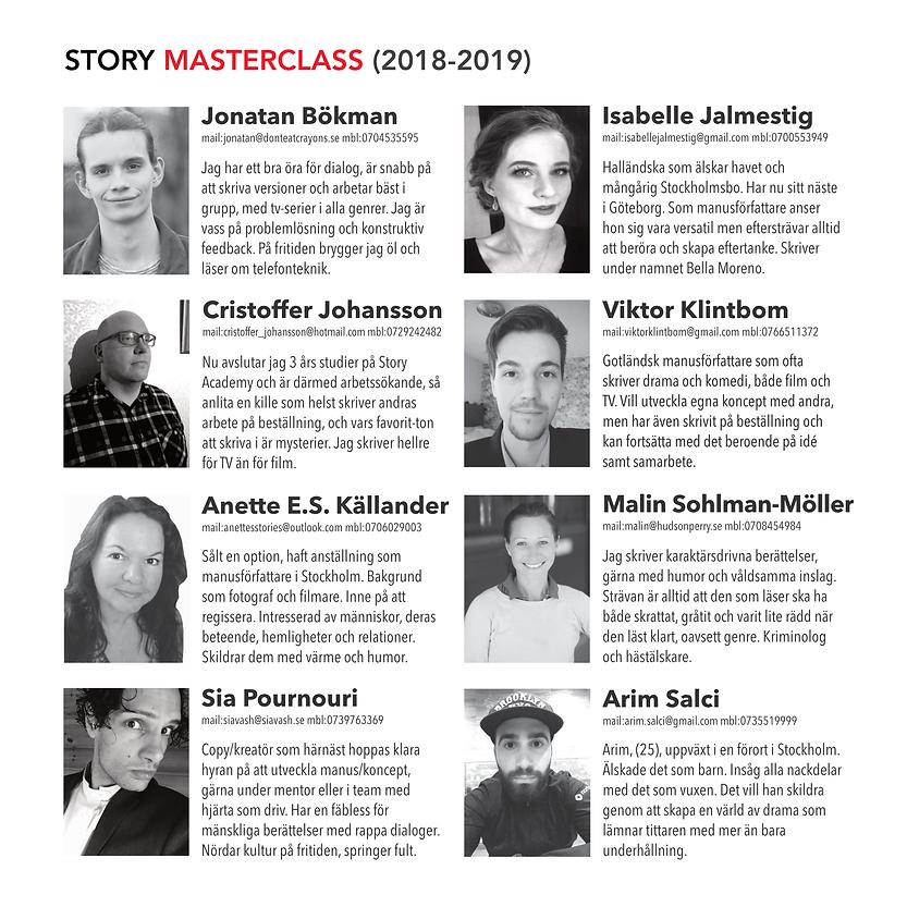 Deltagare på manusutbildningen Story Academy