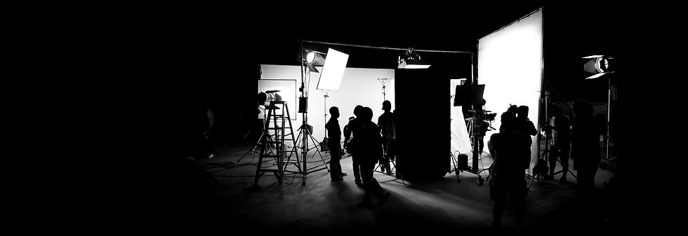 Silhouette images of video production be