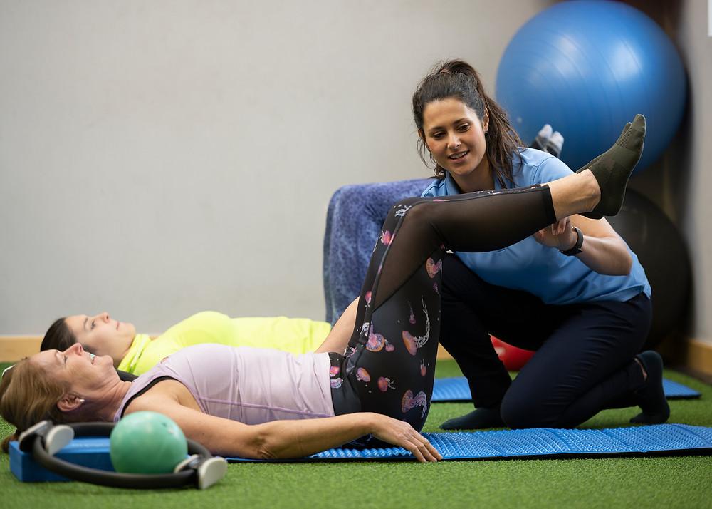Jade teaching clinical Pilates at JDB Physio