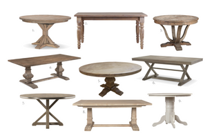 9 GORGEOUS WOOD DINING TABLES