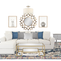 DREAMY NAVY, GOLD & WHITE LIVING ROOM