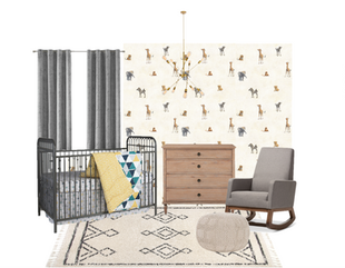 WHIMSICAL BABY BOY JUNGLE NURSERY