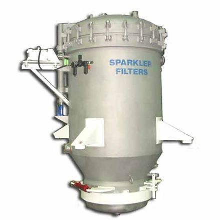 Industrial vertical leaf pressure filter- manual or automatic