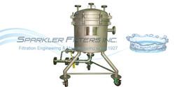 Sparkler Horizontal Plate Filter Pressure Vessel