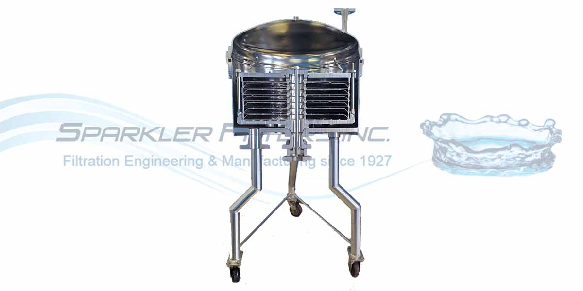 RF Sparkler Horizontal Plate Filter. Polishing filter