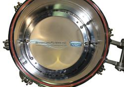 14 inch hinged nutsche internals w water