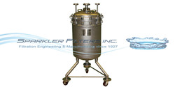 Filtration that is capturing solids and applications with a high percentage of solids