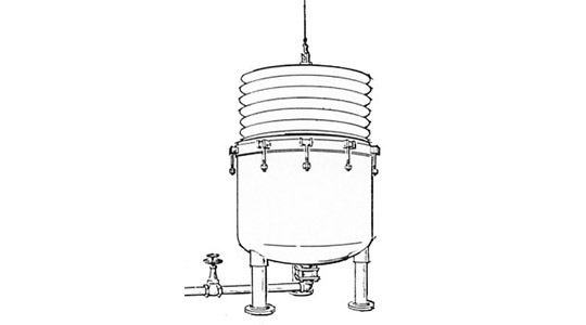 Filter Cartridge Removal Illustration from Pressure Filter
