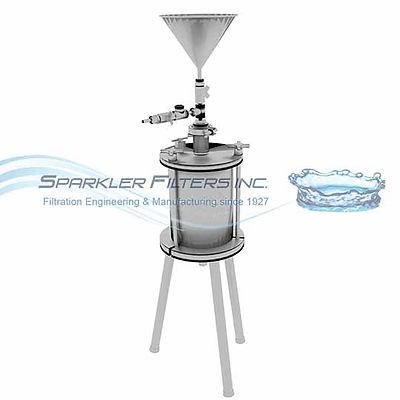 Lab filter pressure vessel