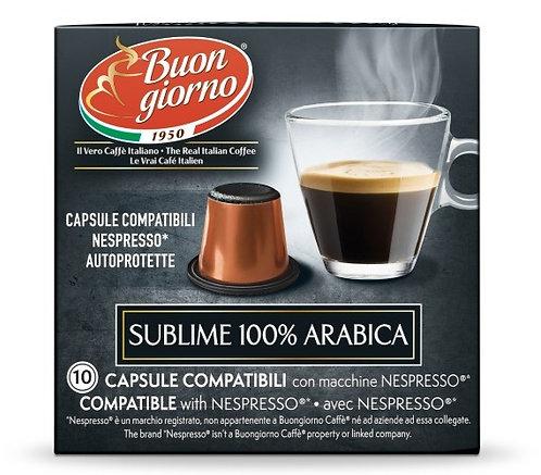 Nespresso Arabica capsules branded Caffè Buongiorno