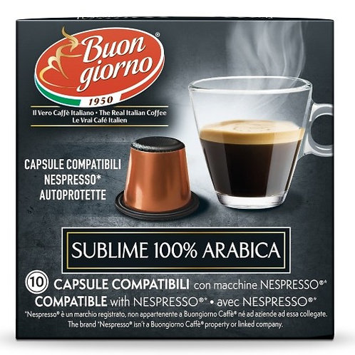 Nespresso Arabica in capsule a marchio Caffè Buongiorno