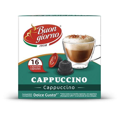 Dolce Gusto Cappuccino capsules branded Caffè Buongiorno