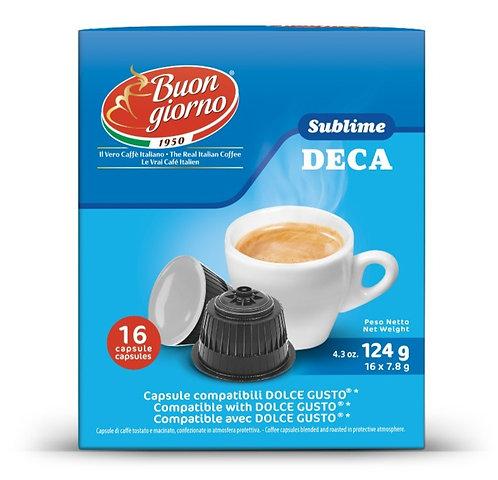 Dolce Gusto Decaffeinated capsules branded Caffè Buongiorno