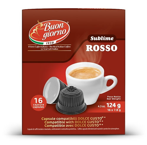 Dolce Gusto Sublime Rosso capsules branded Caffè Buongiorno