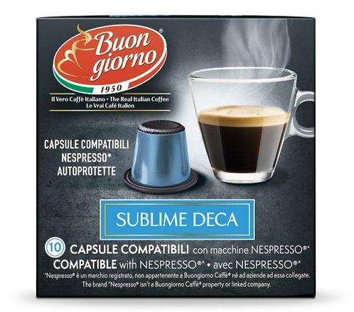 Nespresso Decaffeinated capsules branded Caffè Buongiorno