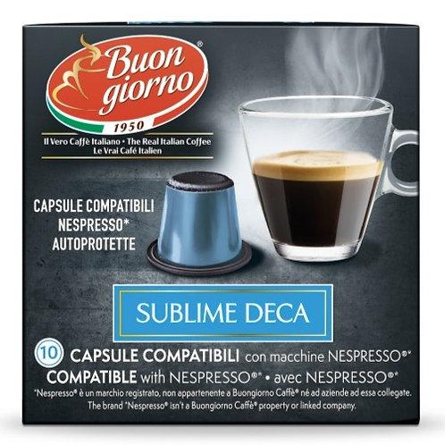 Nespresso Decaffeinato in capsule a marchio Caffè Buongiorno