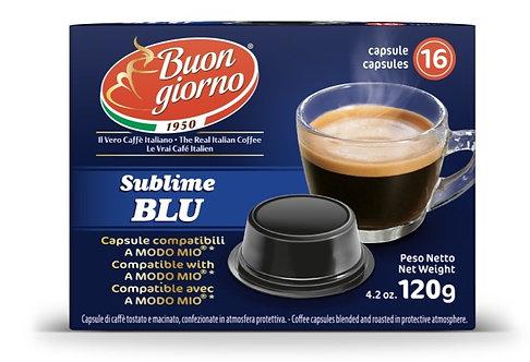 Capsule compatibili A Modo Mio, miscela Sublime Blu a marchio Caffè Buongiorno