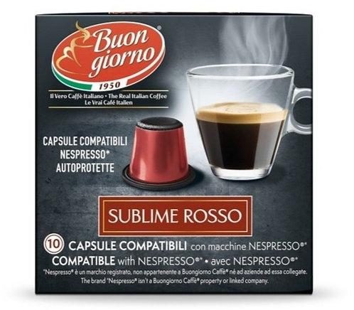 Nespresso Sublime Rosso capsules branded Caffè Buongiorno