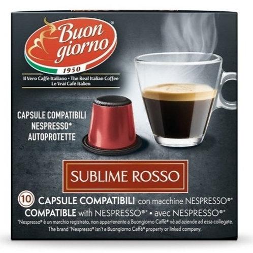 Nespresso Sublime Rosso in capsule a marchio Caffè Buongiorno
