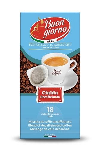 Sublime Decaffeinated in pods branded Caffè Buongiorno