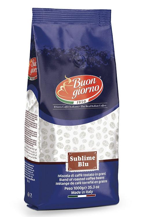 Caffè in grani, miscela Sublime Blu a marchio Caffè Buongiorno