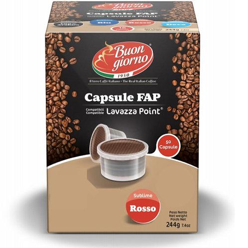 Capsule compatibili Lavazza FAP, miscela di caffè Sublime Rosso a marchio Caffè Buongiorno