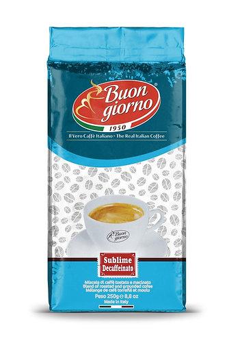 Sublime Decaffeinated Ground branded Caffè Buongiorno