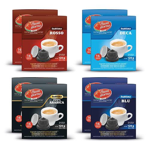 Kit Assaggio capsule compatibili Dolce Gusto a marchio Caffè Buongiorno