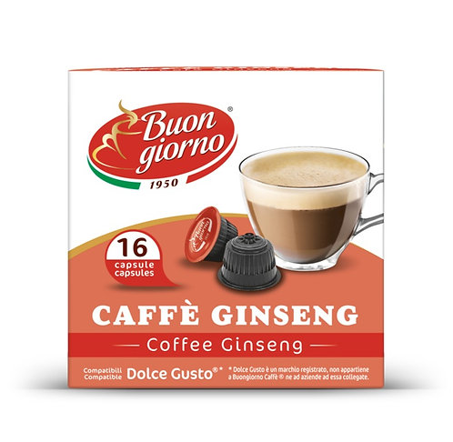 Dolce Gusto Ginseng capsules under the branded Caffè Buongiorno