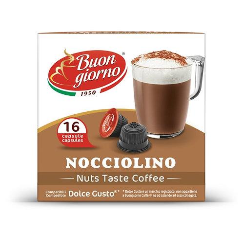 Capsule compatibili Dolce Gusto, gusto Nocciolino a marchio Caffè Buongiorno