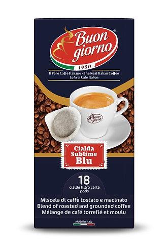 Sublime Blu in coffee pods branded Caffè Buongiorno