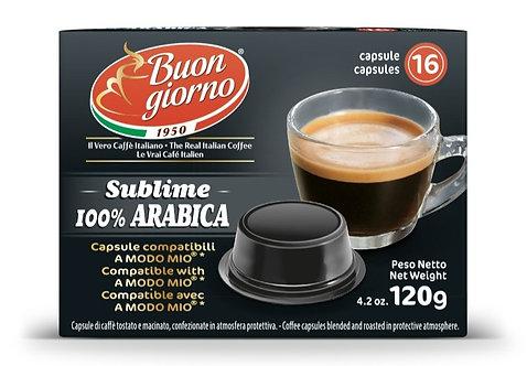 Capsule compatibili A Modo Mio, miscela 100% Arabica a marchio Caffè Buongiorno