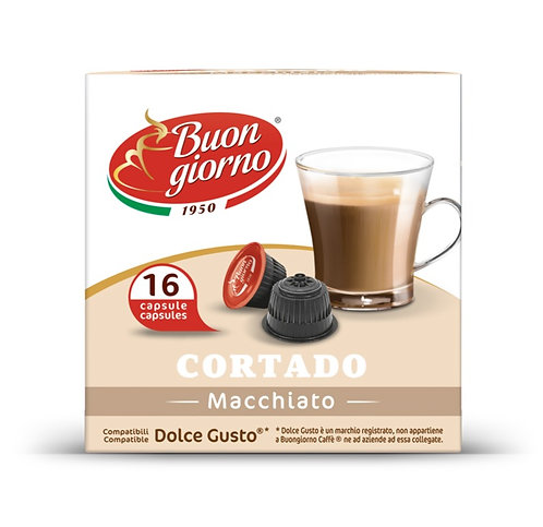 Dolce Gusto Cortado capsules branded Caffè Buongiorno