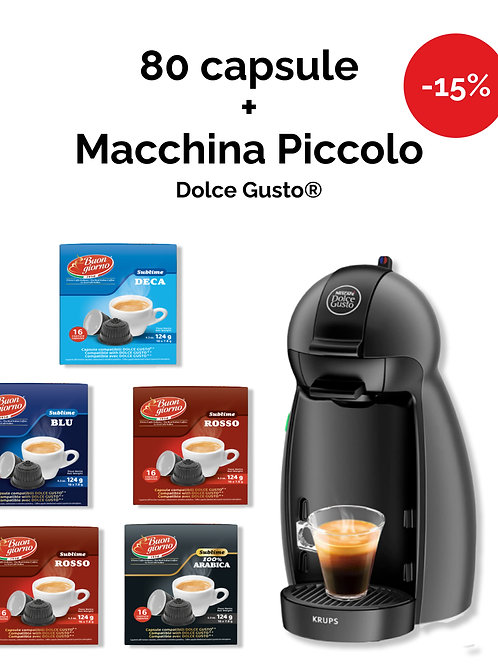 Macchina Piccolo Dolce Gusto® + 5 confezioni di Capsule OMAGGIO