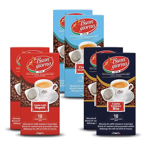Kit Assaggio cialde a marchio Caffè Buongiorno